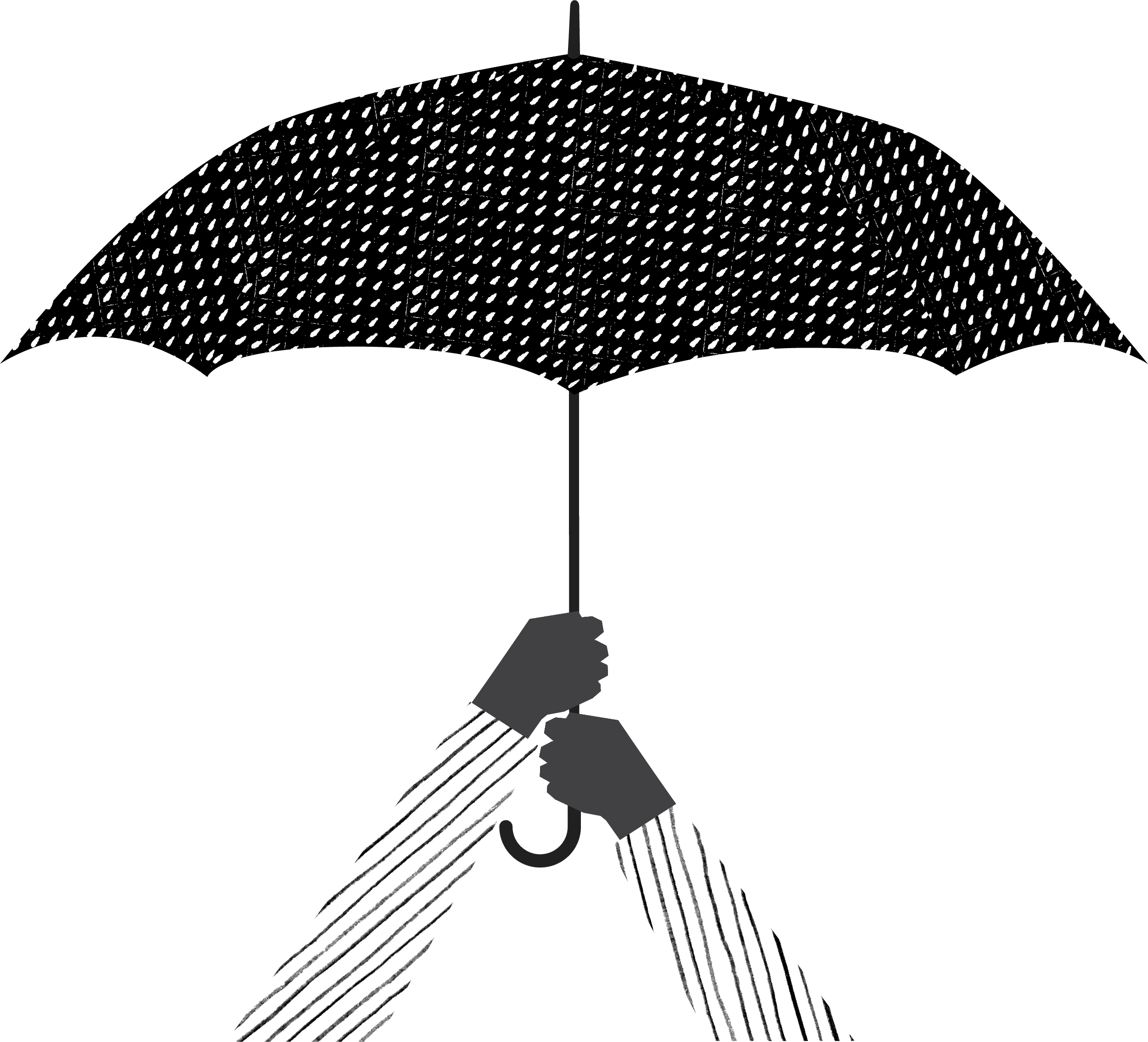 arms holding an umbrella